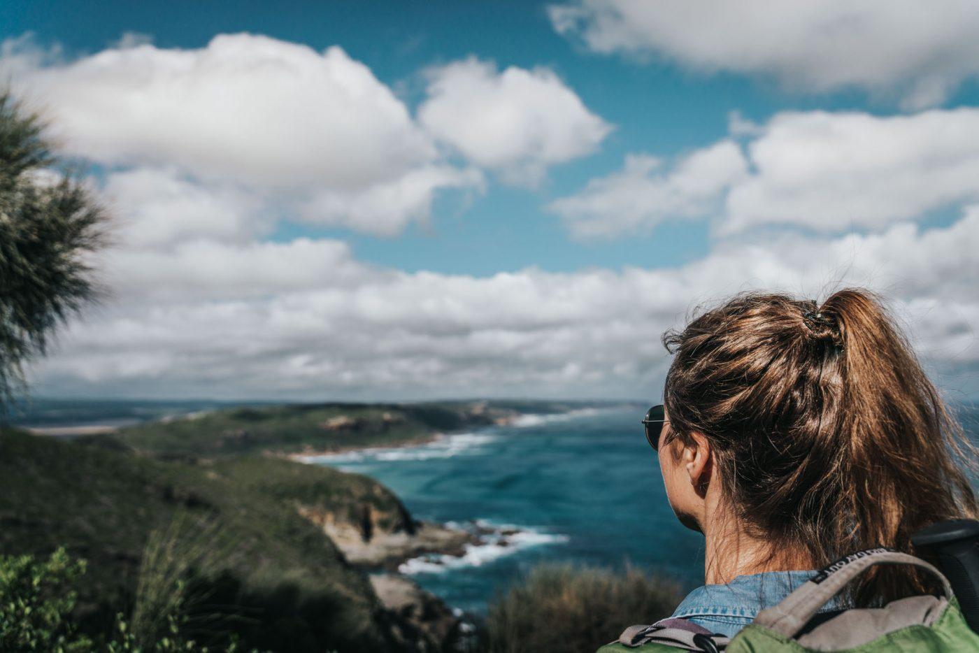 Overlooking the coastline of the Great Ocean Walk