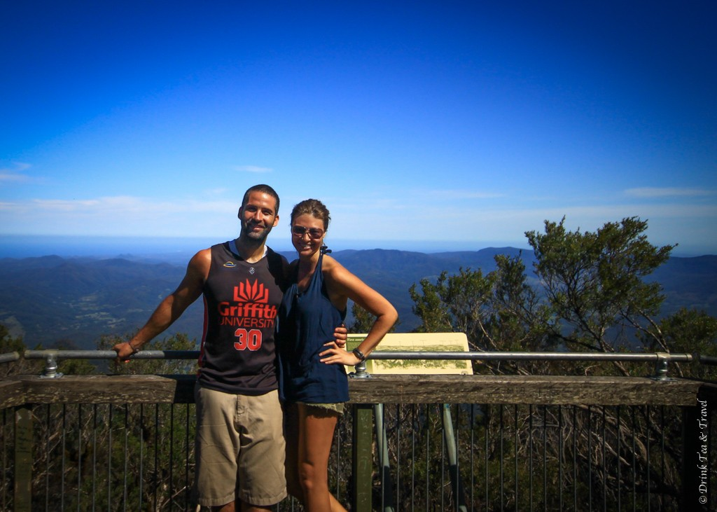 Mt Warning climb to the top