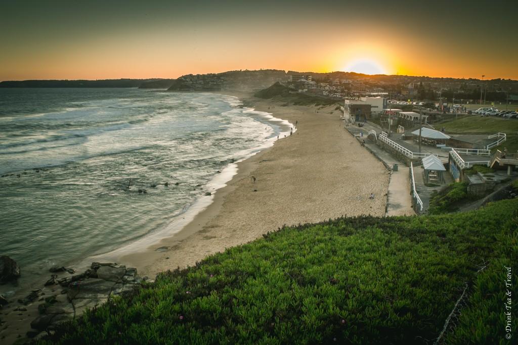 Trip to Australia cost: That magical moment when the sun hits the horizon. Bar Beach, Newcastle. Australia