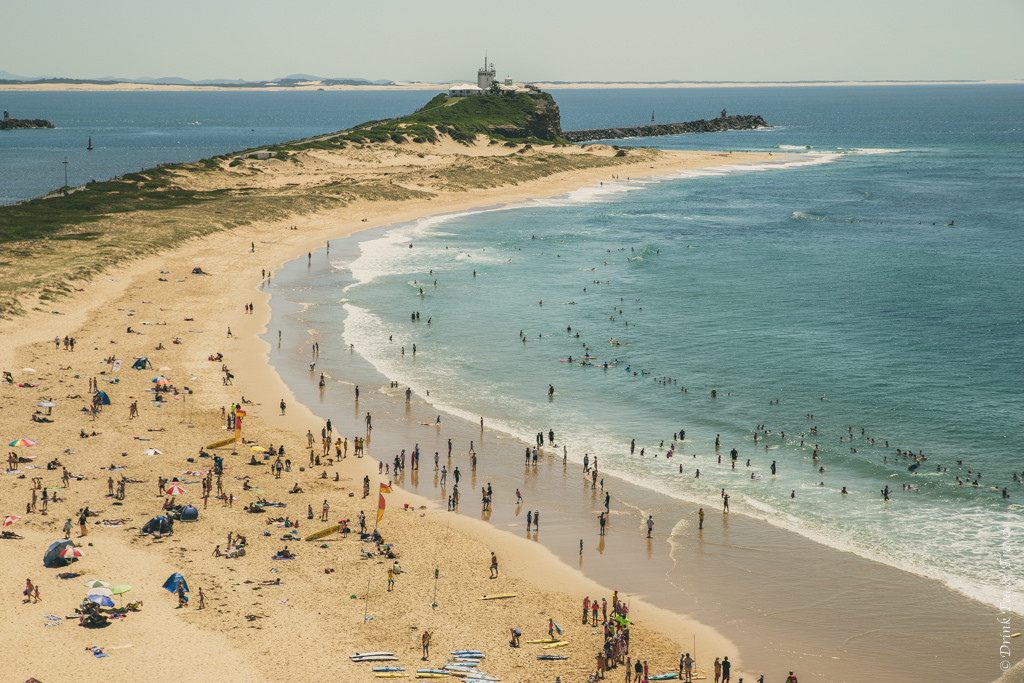 Things to do in Newcastle NSW: Nobby's Beach. View from the top of Fort Scratchley. Newcastle. Australia
