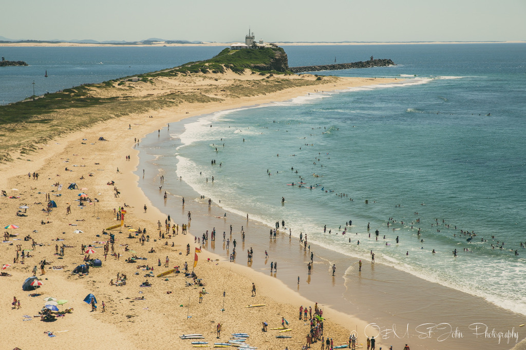 Nobby's Beach. View from the top of Fort Scratchley. Newcastle. Australia, Things to do in Newcastle NSW