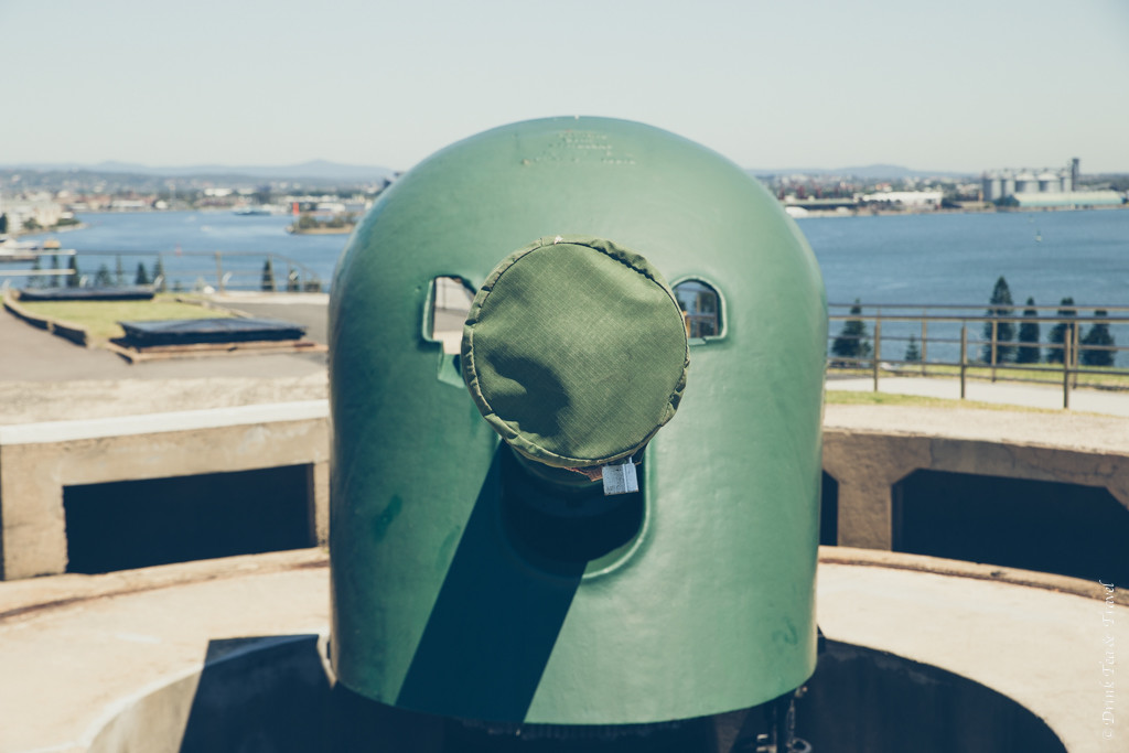 Turret cannon at the top of Fort Scratchley. Newcastle, Australia. Things to do in Newcastle NSW