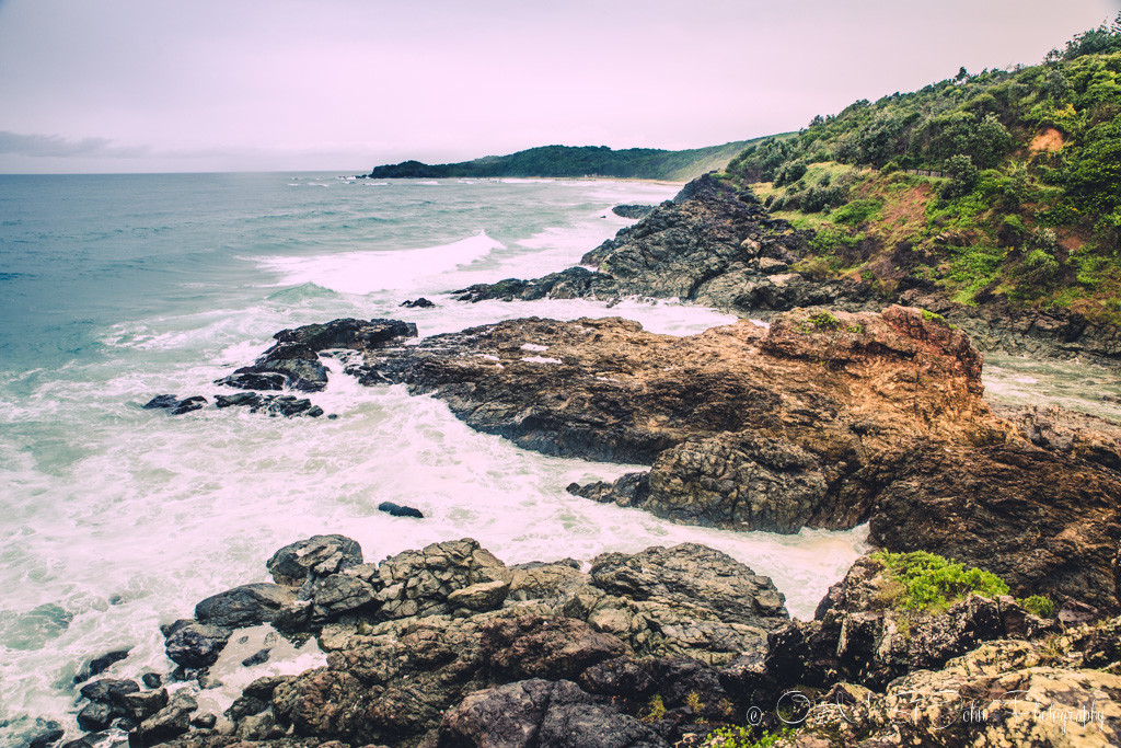 Rocky headlands at the end of Flynn's Beach, Port Macquarie, NSW