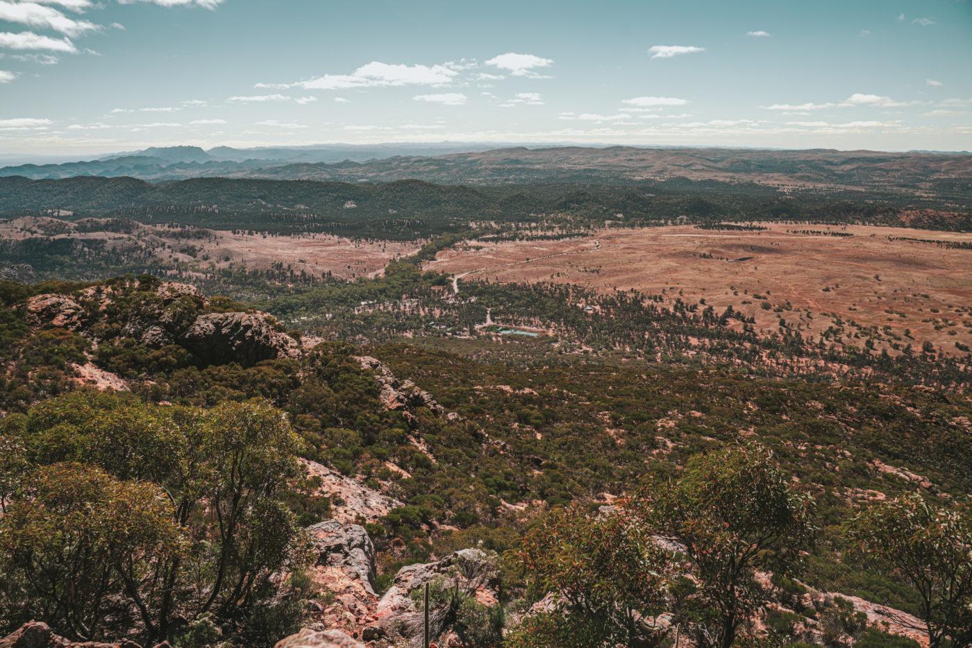 View from the top of Mt Ohlssen Bagge, Flinders Range National Park
