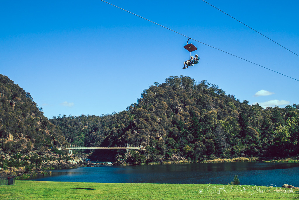 best places to visit in tasmania: 457 m long chairlift over the First Basin at the Cataract Gorge, Launceston, Tasmania