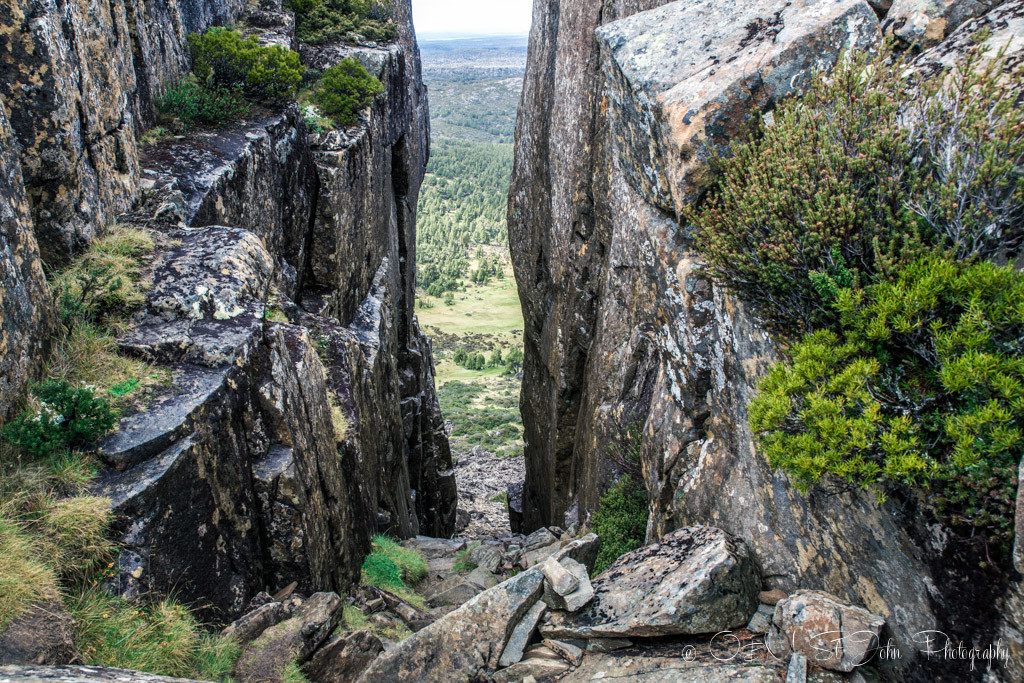 best places to visit in tasmania: Solomon's Throne Peak, Wall of Jerusalem National Park, Tasmania.