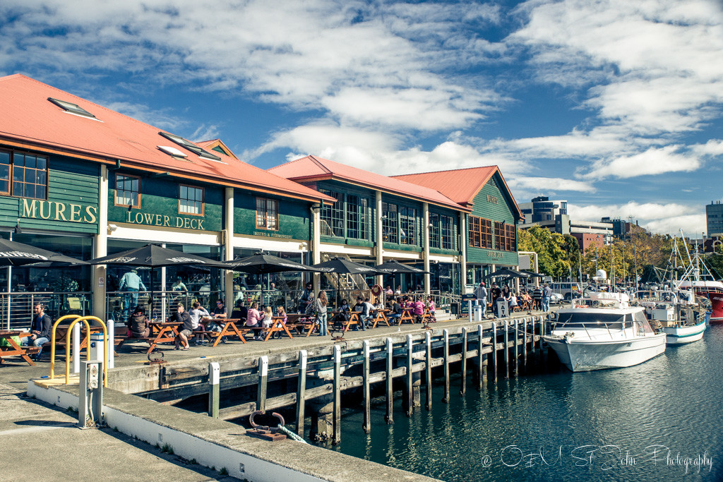 Mures Seafood Restaurant in Hobart is always buzzing with action.