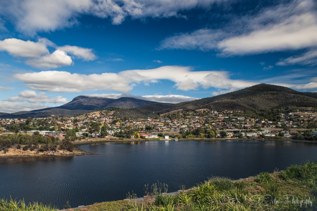 Hobart and surroundings, view from Museum of Old and New Art