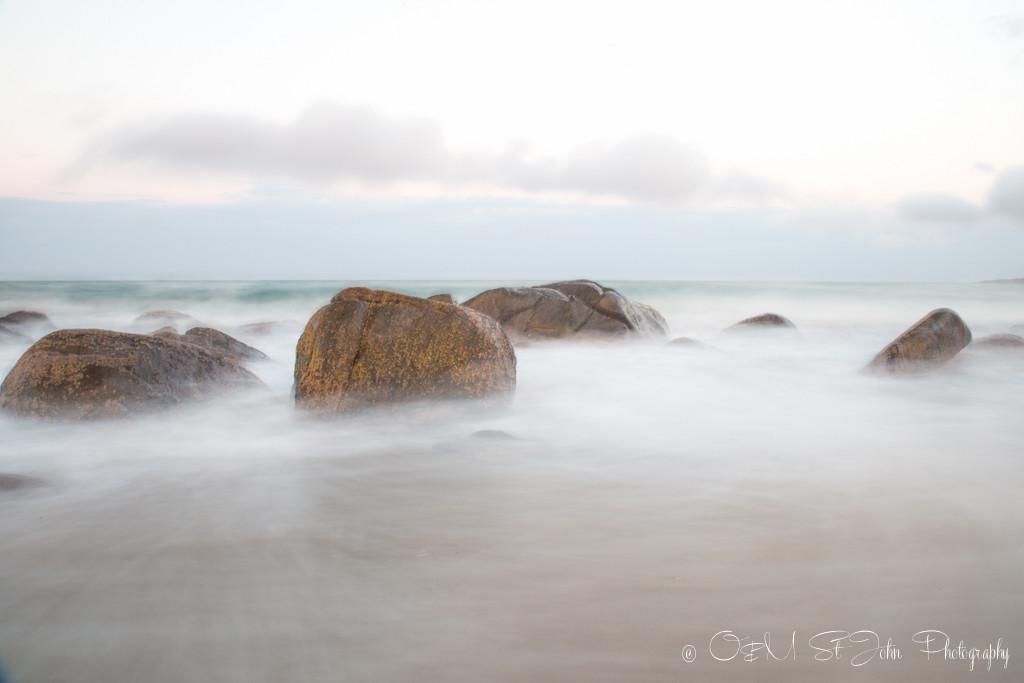 Magic waters on the East Coast of Tasmania just off the Tasman Highway