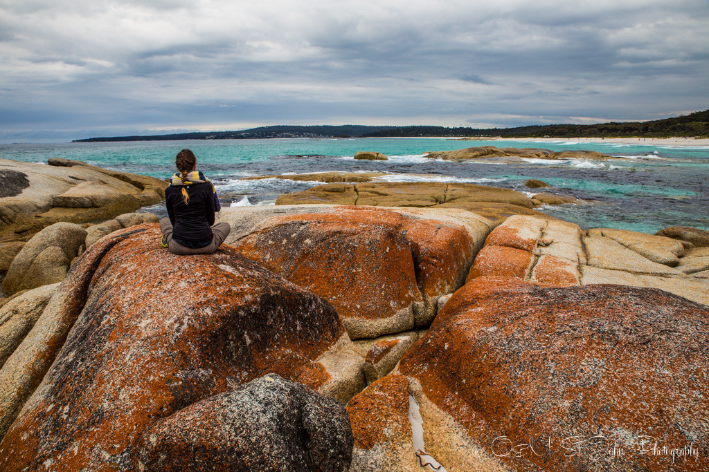 Enjoying the views at the Bay of Fires