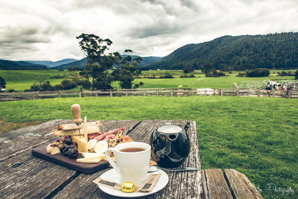 Trip to Australia Cost: Local produce, tea and one hell of a view at the Holy Cow cafe in a small town of Pyengana, located 2 hours east of Launceston. Tasmania