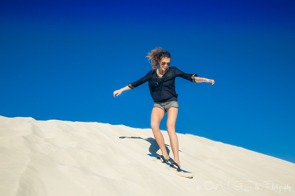 Western Australia itinerary: Sand surfing in Lancelin. Western Australia
