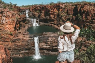 Visiting Mitchell Falls on a Day Trip with Kingfisher Tours
