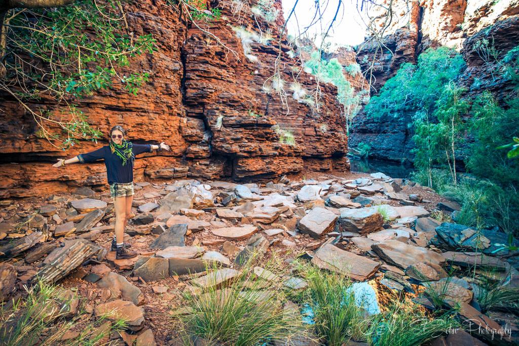 At the start of the Weano Gorge Trail. Karijini National Park. Western Australia