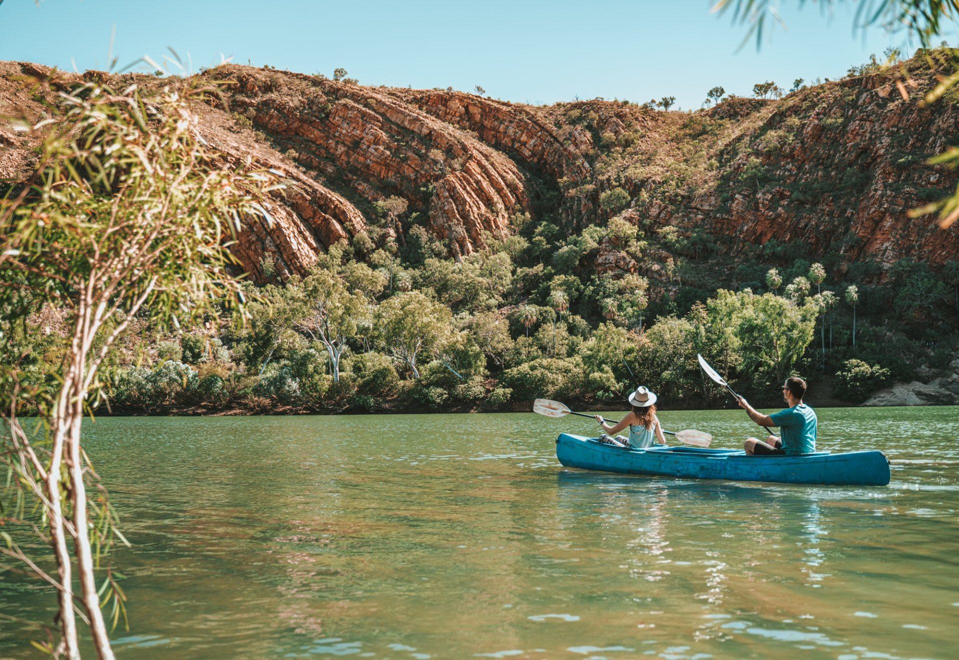 Kayaking at Dimond Gorge, Mornington Wilderness, Gibb River Road