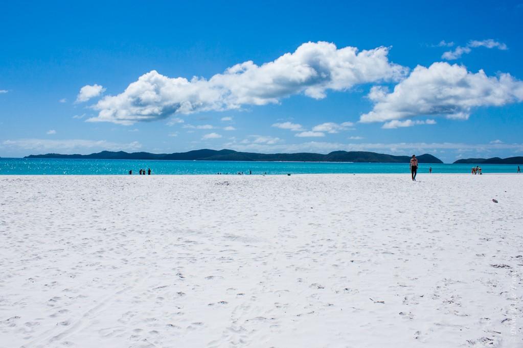 Trip to Australia cost: Whitehaven Beach, The Whitsundays, Australia