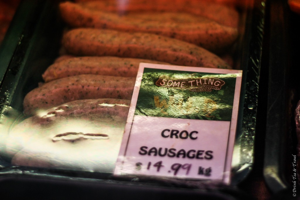 Food to try in Australia: Croc sausages on sale at the Adelaide Central Market
