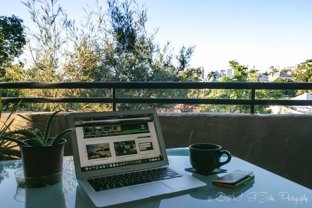 Blogging in Australia.