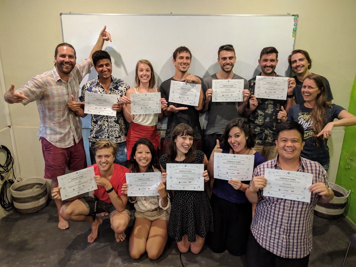 Learn to Code Online: Team getting diplomas