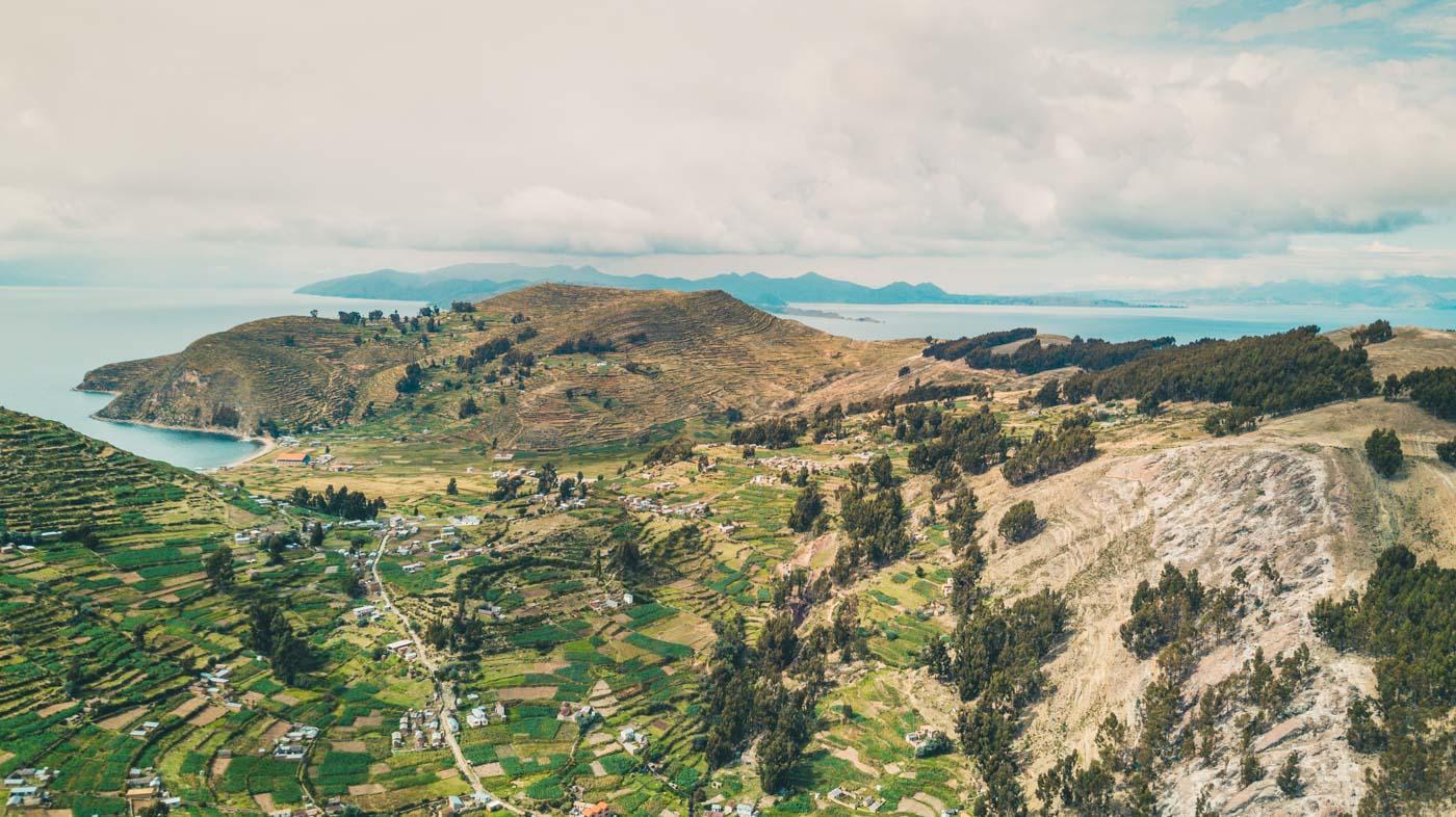 The view from the Mirador in Yumani, Isla del Sol