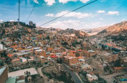 View of La Paz from the Cable car