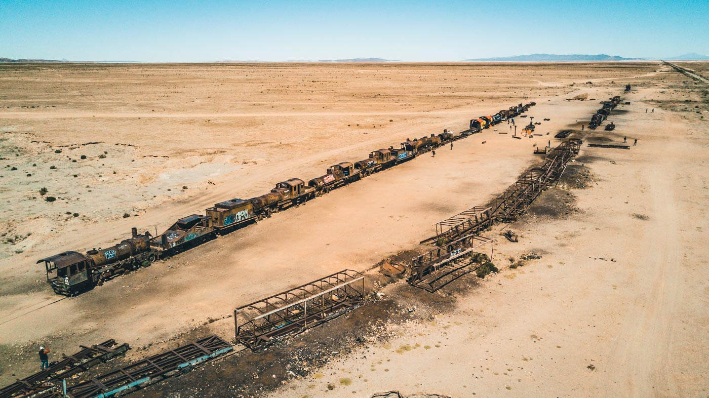Train Graveyard outside of Uyuni, Bolivia