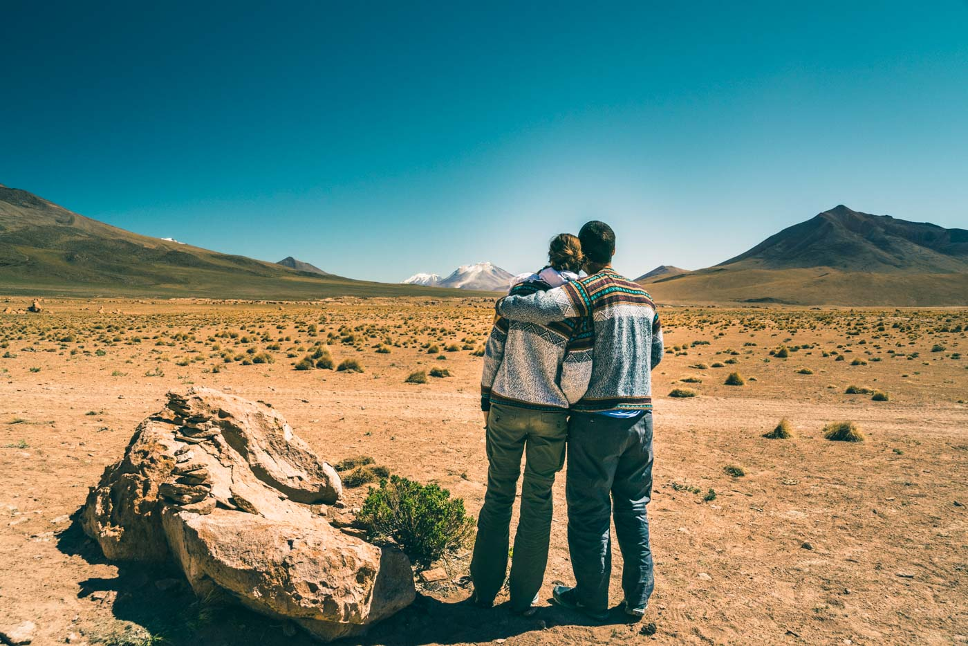 Overlooking the Siloli Desert