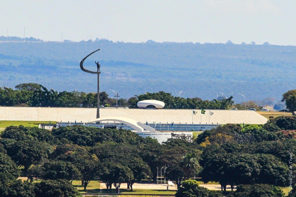 Juscelino Kubitschek Monument in Brasilia, Brazil