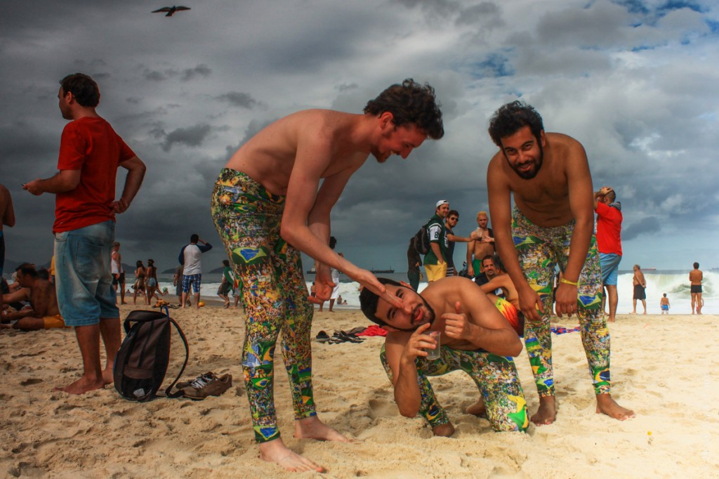 Getting to know some Brazilians on the Copacabana Beach