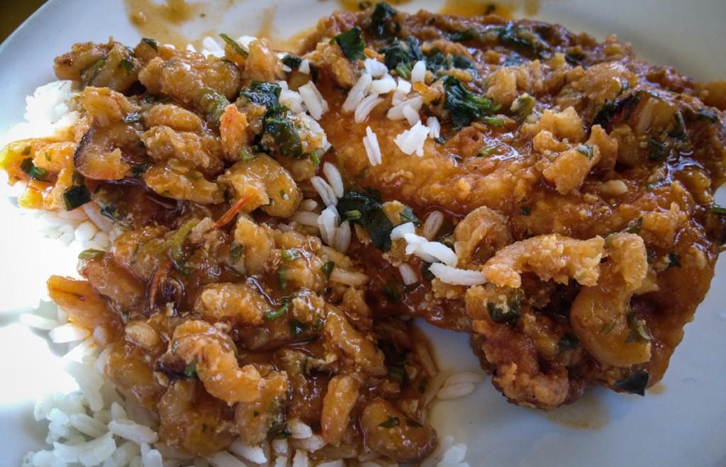 Moqueca - a salt water fish stew with prawns