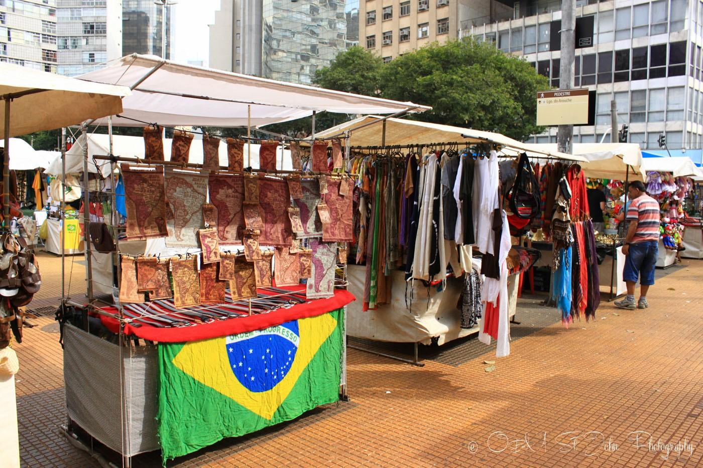 Open air market in Sao Paulo, Brazil