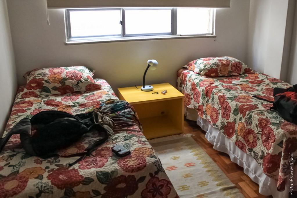 One of the rooms inside our Rio de Janeiro apartment