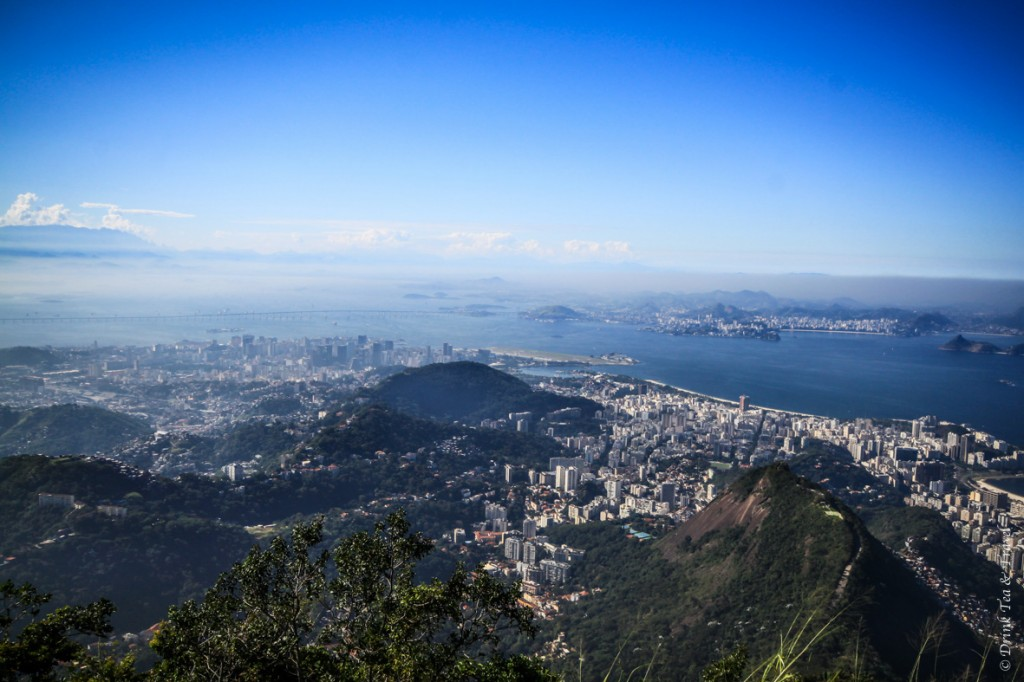 hike christ the redeemer: North Eastern view from the top of Corcovado Mountain
