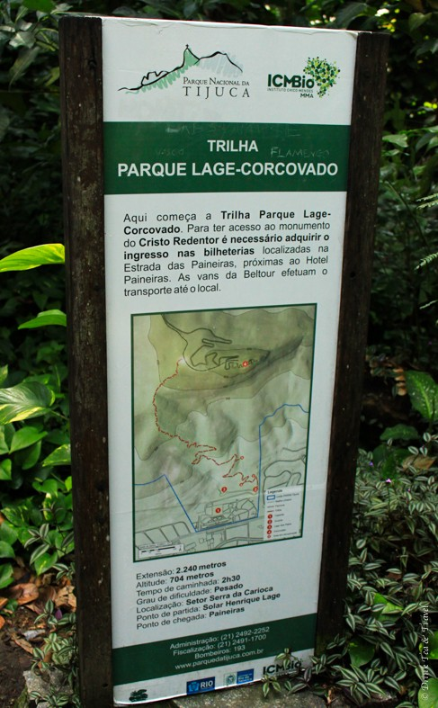 hike christ the redeemer: Map of the trail to Christ the Redeemer