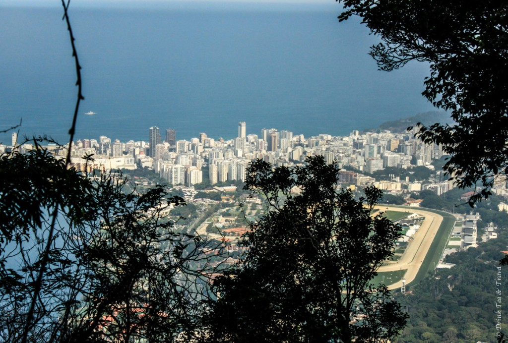 hike christ the redeemer: View of Rio de Janeiro from the trail to Christ the Redeemer