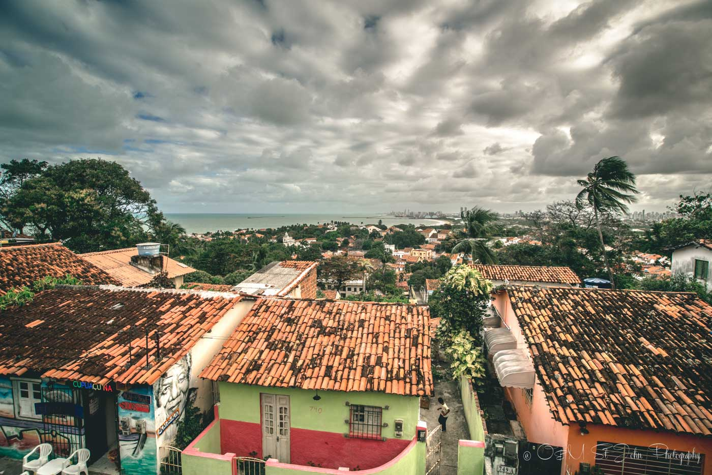 Overlooking the town of Olinda, Northeast Brazil