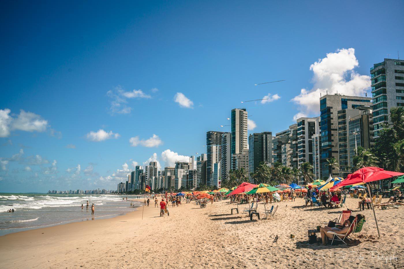 Beautiful beach in Recife, Brazil