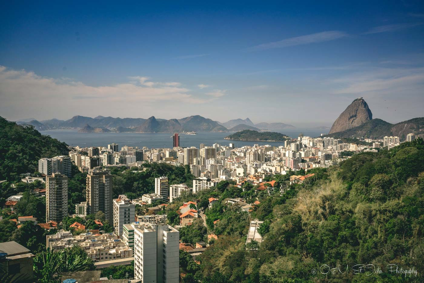View of the Sugarloaf Mountain in Rio de Janeiro, Brazil