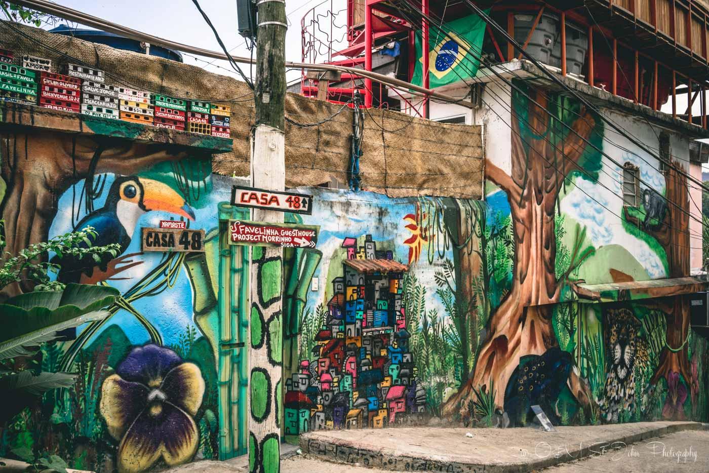 Entrance to the Pereira da Silva Favela