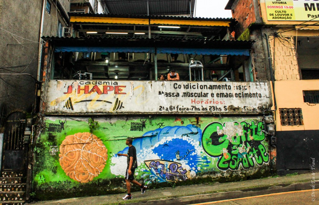 Gym on the main street of Rocinha, largest favela in Rio de Janeiro