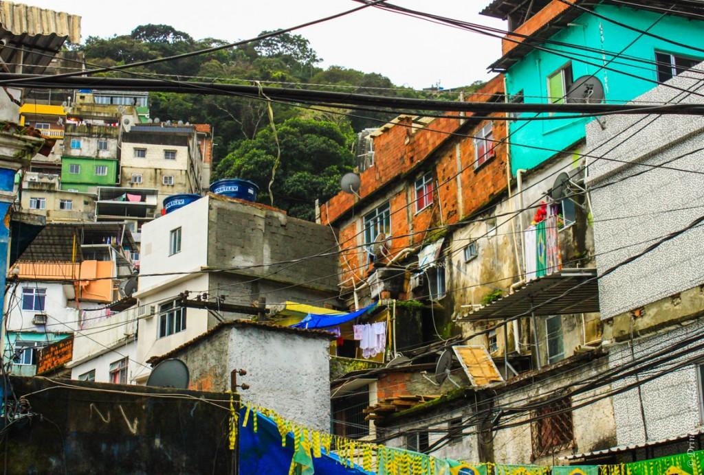 Houses in Rocinha look a lot worse than everywhere else in Rio de Janeiro