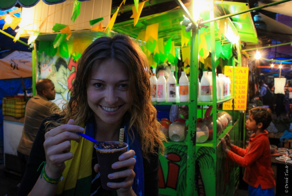 Trying the best açai treat in Rocinha, largest favela in Rio de Janeiro