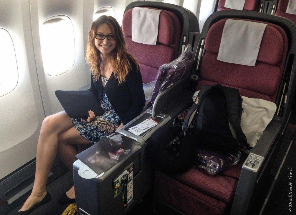 Sydney to Santiago, Qantas Business Class