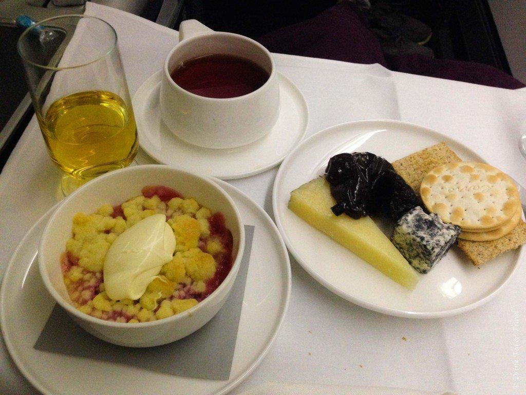 Dessert in Qantas Business Class