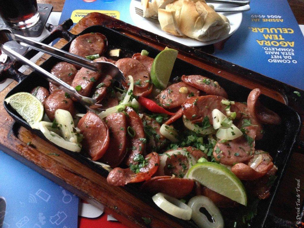 Brazilian dishes: Chouriço