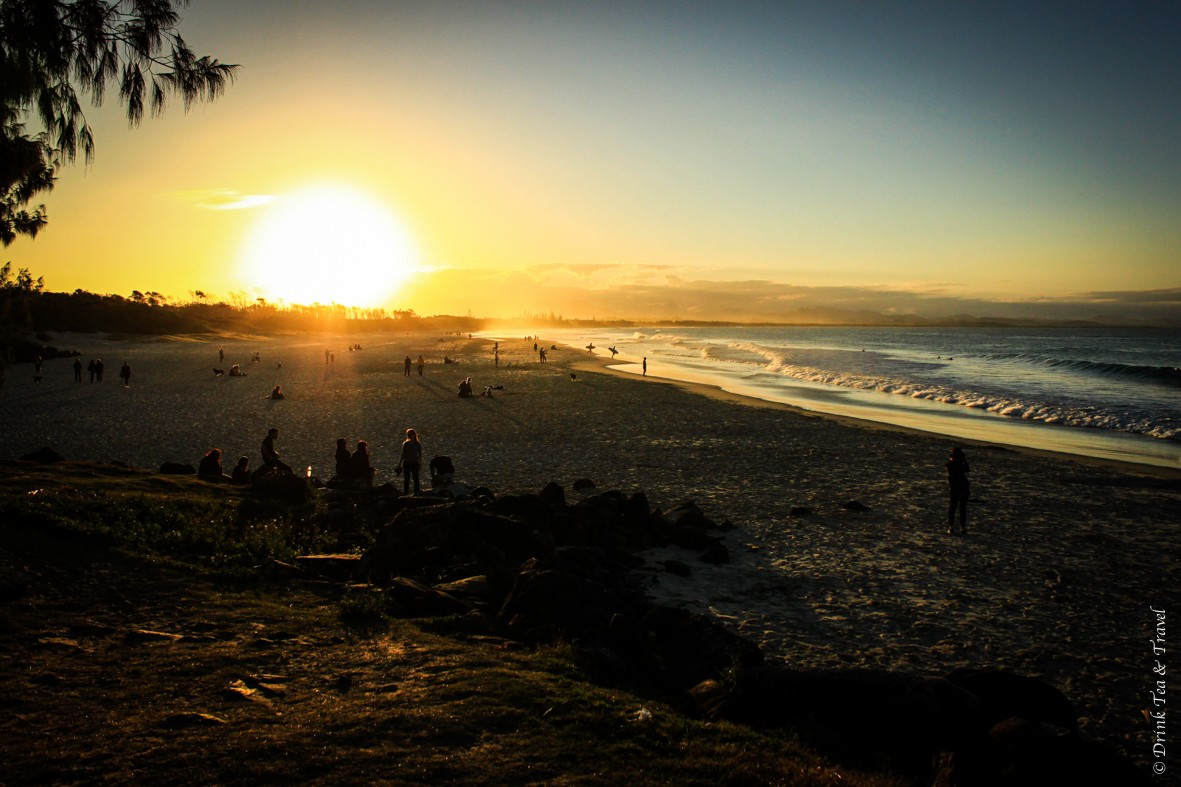 Accommodation Byron Bay: Sunset at Main Beach, Byron Bay, Australia