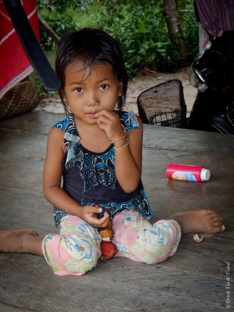 young girl - getting off the beaten track in Cambodia