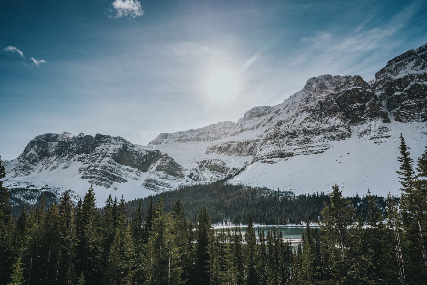 Crowfoot Glacier, Canadian Icefields Parkway,