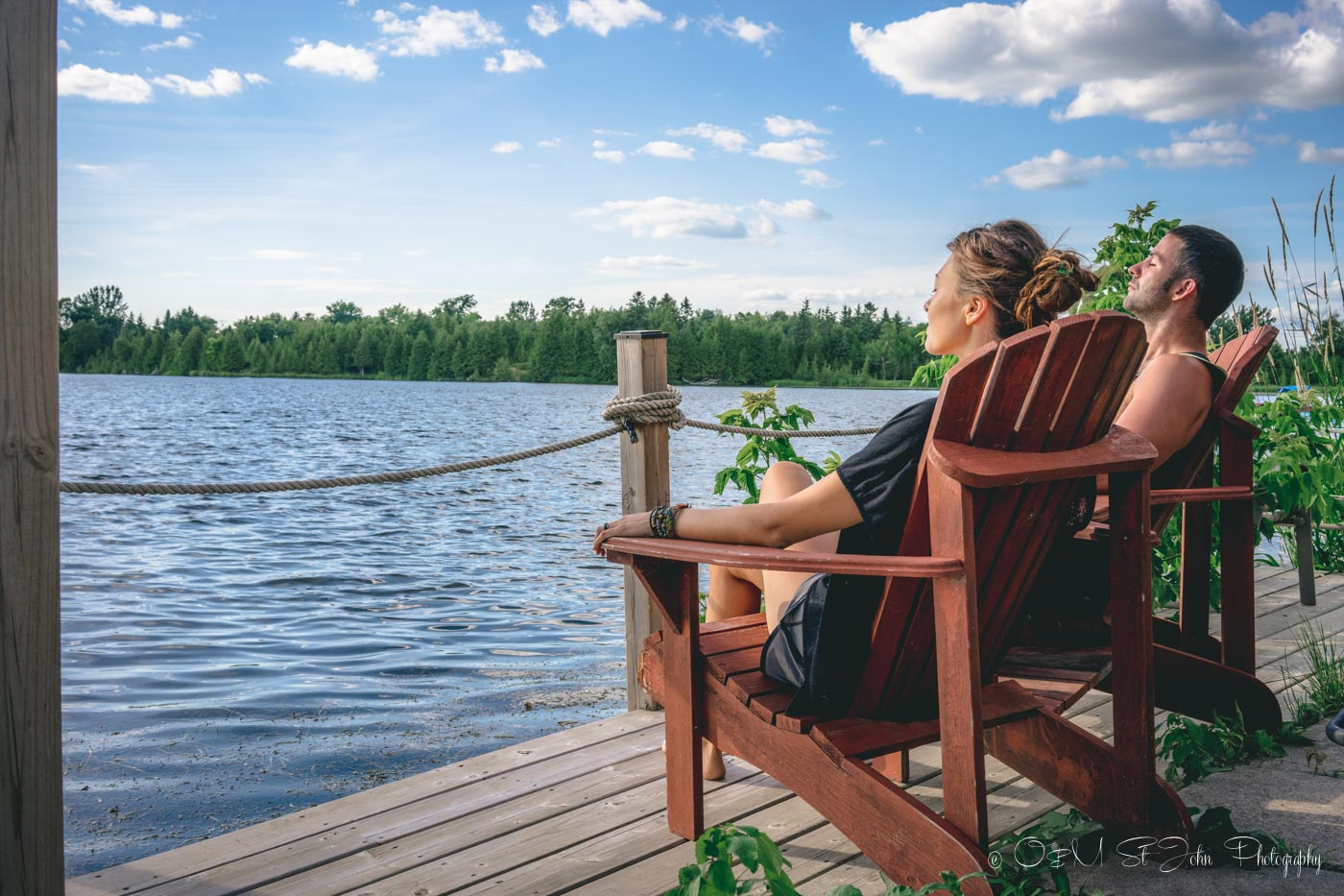 Enjoying the peace and quiet of lake country in Ontario, Canada