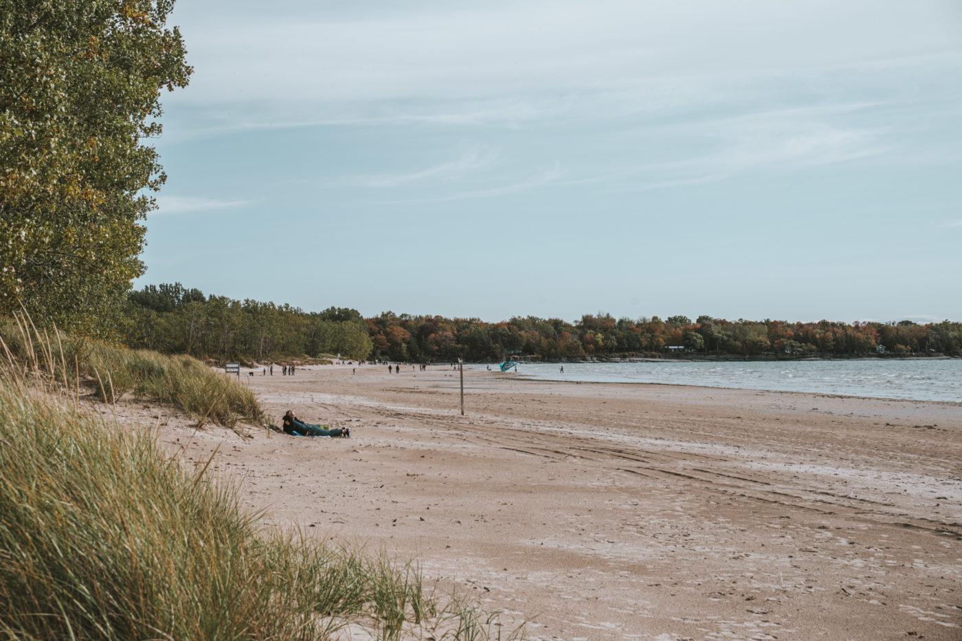 Sandbanks Beach in the fall, Prince Edward County